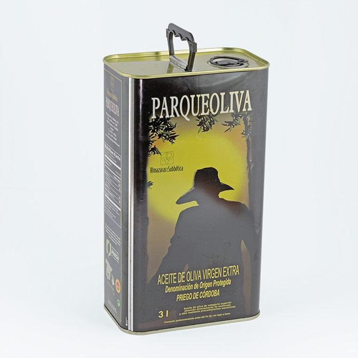 Aceite Oliva Virgen Extra Parqueoliva Serie ORO Lata 3L
